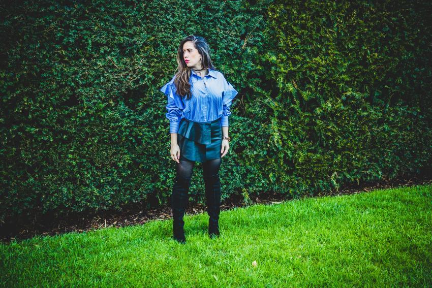 camisa rayas azules